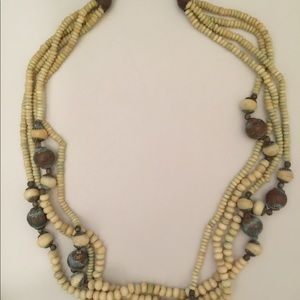 Vintage Multi Strand Beaded Necklace